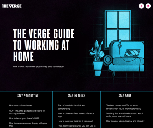 The Verge – Guide to Working at Home